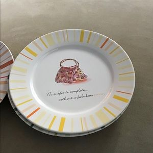 Rosanna Dining - Fashion-Themed Salad/Desert Plates. Rosanna EUC